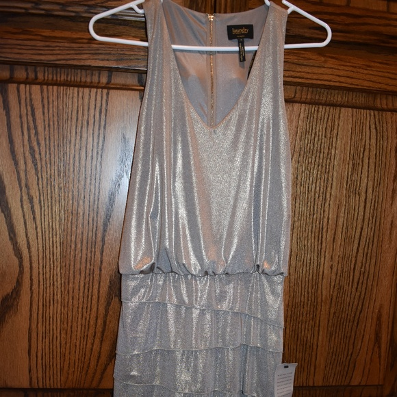 Laundry By Shelli Segal Dresses & Skirts - NWT Metallic Gold Silver Ruffled Cocktail Dress 4